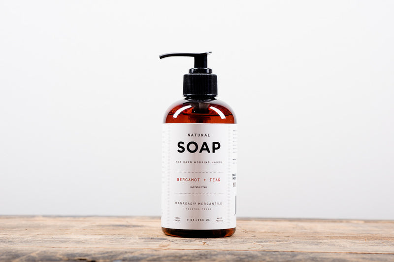 Manready Mercantile Natural Hand Soap available at Manready Mercantile and online at manready.com