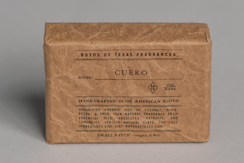 Natural Bar Soap | Cuero | Boyd's of Texas - Manready Mercantile