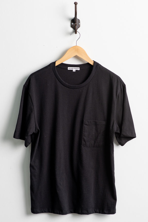 Crew Pocket Tee | Black | Richer Poorer
