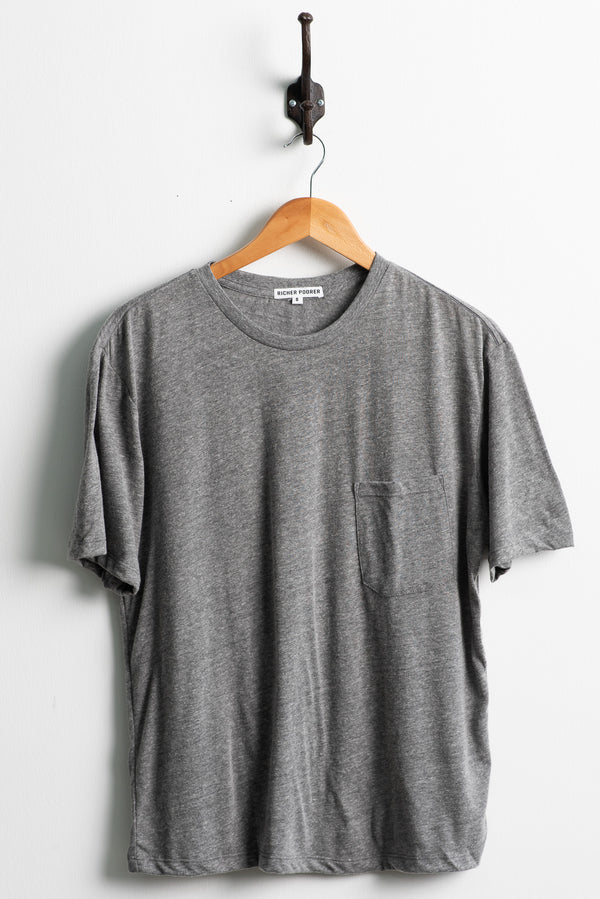 Richer Poorer Crew Pocket Tee in Grey available at Manready Mercantile and manready.com