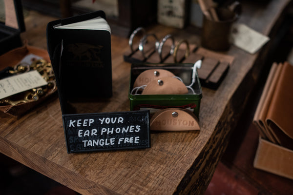 Leather Cord Keeper | Houston | Manready Mercantile - Manready Mercantile