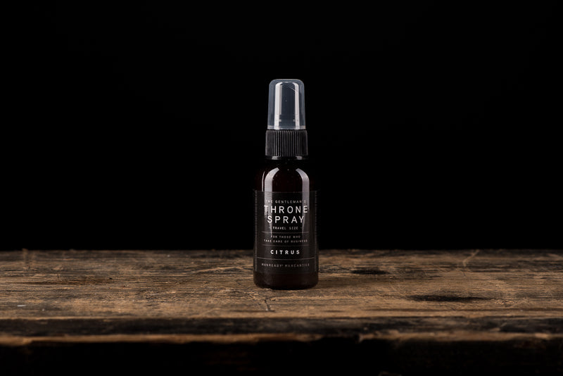 Manready Mercantile Citrus Throne Spray in travel size available online at manready.com and in store