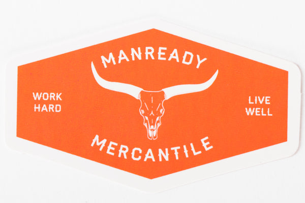 Manready Mercantile longhorn sticker manready mercantile