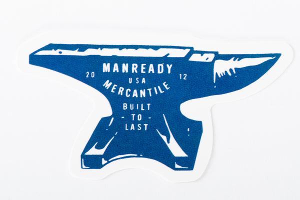 manready mercantile anvil sticker houston texas nick tallent work hard live well manready mercantile