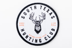 south texas hunting club sew on patch jean jacket whitetail deer manready mercantile