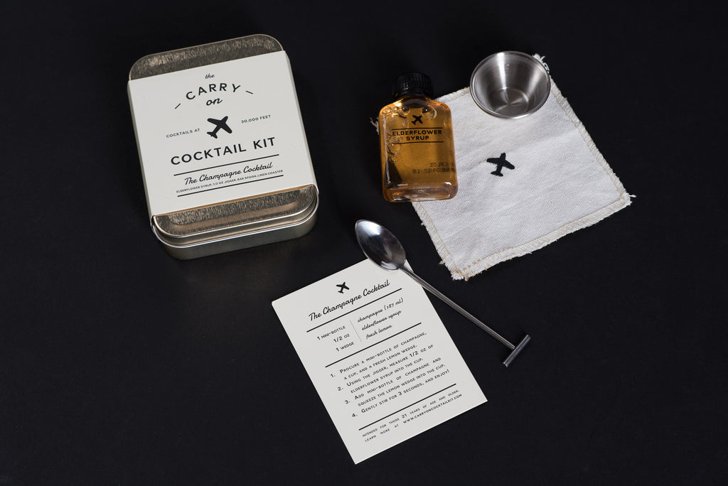 The Champagne Cocktail Kit | Carry on Cocktail Kit | W + P Design