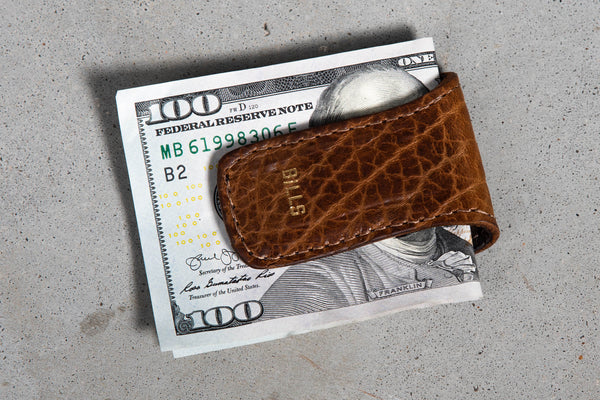 Bison Money Clip #680 | Coronado Leather