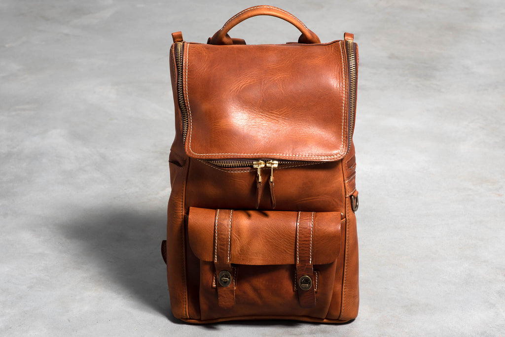Top Zip Americana Backpack | Chestnut | Coronado Leather
