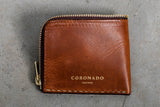 Americana Half Zip Wallet #11 | Chestnut | Coronado Leather - Manready Mercantile