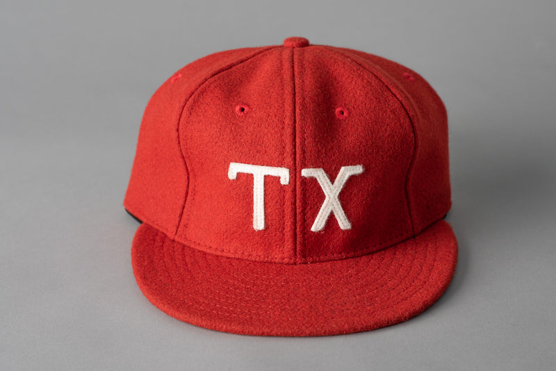 Ebbets Field TX Ballcap in Cherry Red Wool available at Manready Mercantile and manready.com