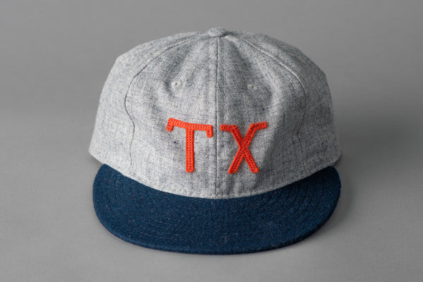 Ebbets Field TX Ballcap in Heather Grey and Navy Wool available at Manready Mercantile and manready.com