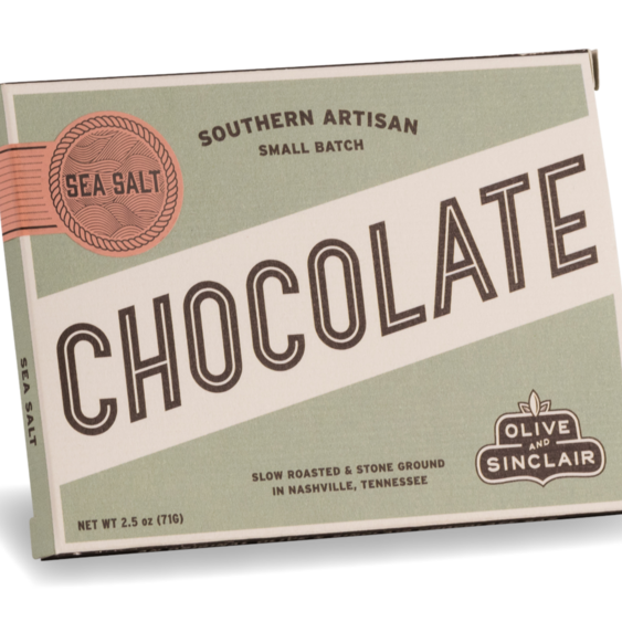 Dark Sea Salt Chocolate Bar | Olive & Sinclair Chocolate
