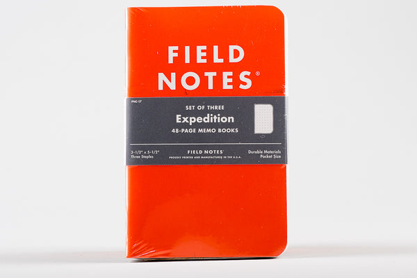 Expedition Three Pack Field Notes Notebook Manready Mercantile