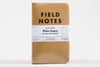 Kraft Plain Paper Three Pack Field Notes Notebook Manready Mercantile