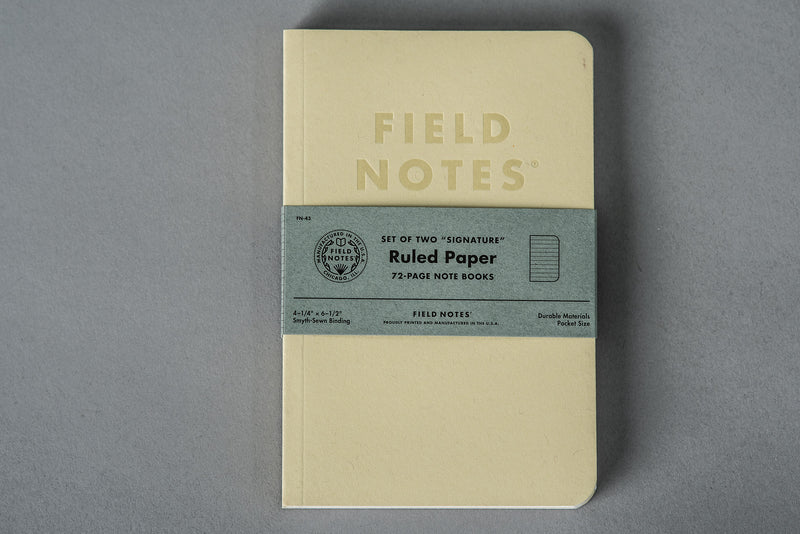 Signature Ruled | 2-Pack | Field Notes