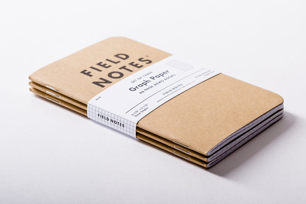 Field notes graph paper original kraft paper manready mercantile