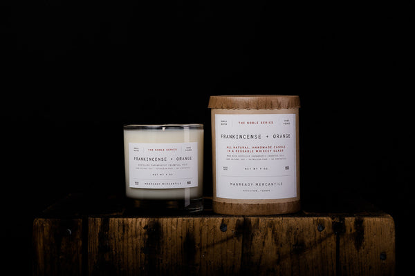 Manready Mercantile Frankincense Orange Soy Wax Candle Noble Series Made in Houston