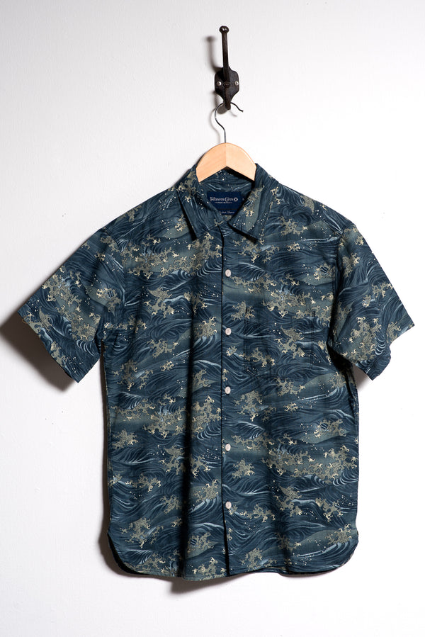 Hawaiian Shirt | Waves | Freenote Cloth - Manready Mercantile