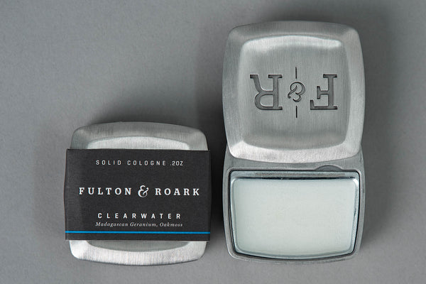 Fulton & Roark Clearwater Solid Cologne available at Manready Mercantile