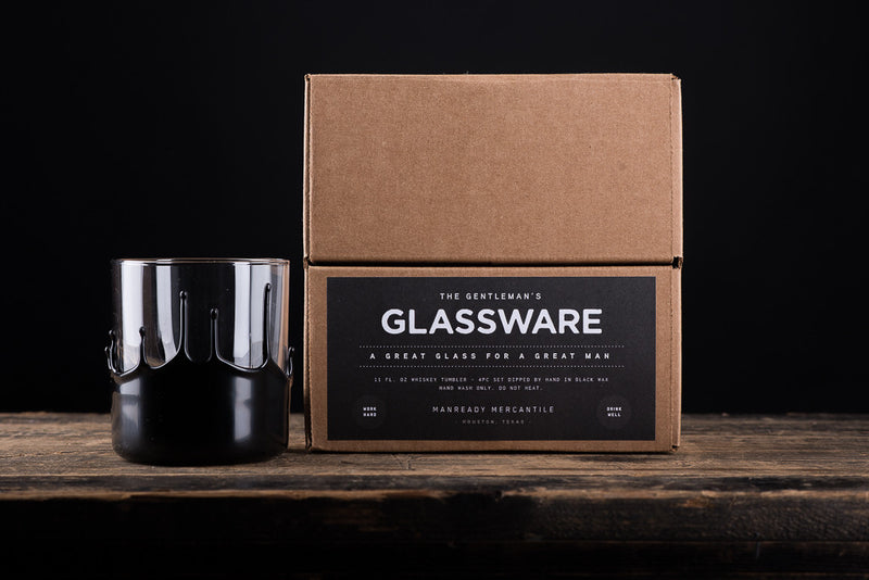 The Gentleman's Glassware | Wax Dipped Whiskey Glasses | Manready Mercantile - Manready Mercantile