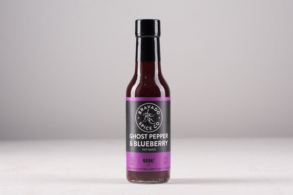 Bravado Spice Co Hot Sauce Made in Houston Texas Pantry Kitchen BBQ Manready Mercantile Ghost Pepper Blueberry