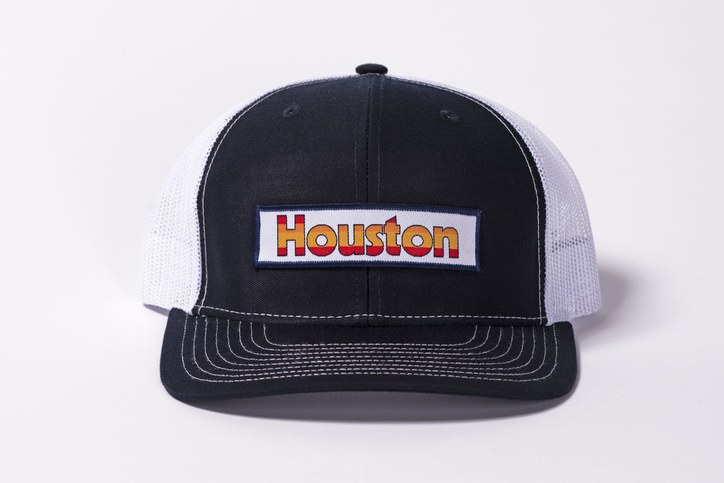 112 Richardson Hat | Navy + White | Houston Retro Patch | Manready Mercantile