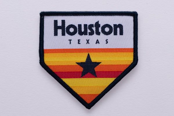 Iron on Patch | Astros Homeplate | Manready Mercantile