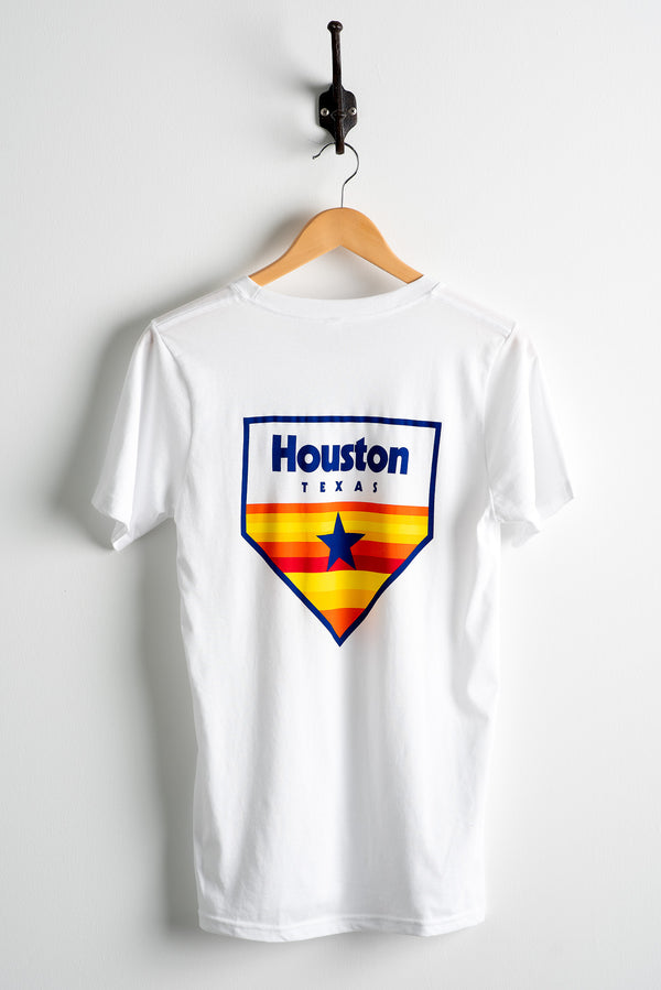 Graphic Tee | Houston Home Plate | White | Royal Apparel x Manready Mercantile