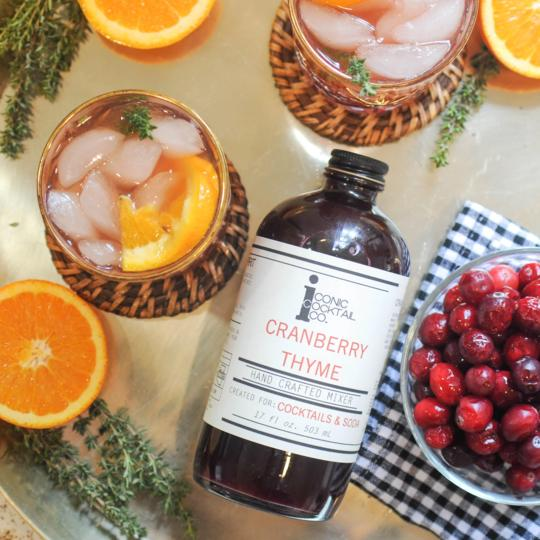 Cranberry Thyme Mixer | Iconic Cocktail