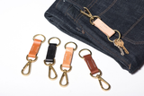 Leather Lever Snap Keychain | Manready Mercantile