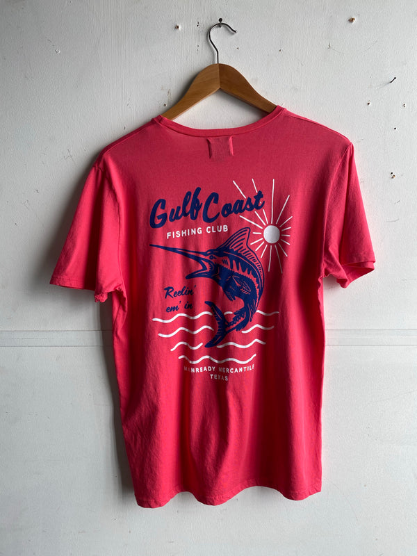 Graphic Pocket Tee | Gulf Coast Fishing Club | Hibiscus | Manready Mercantile