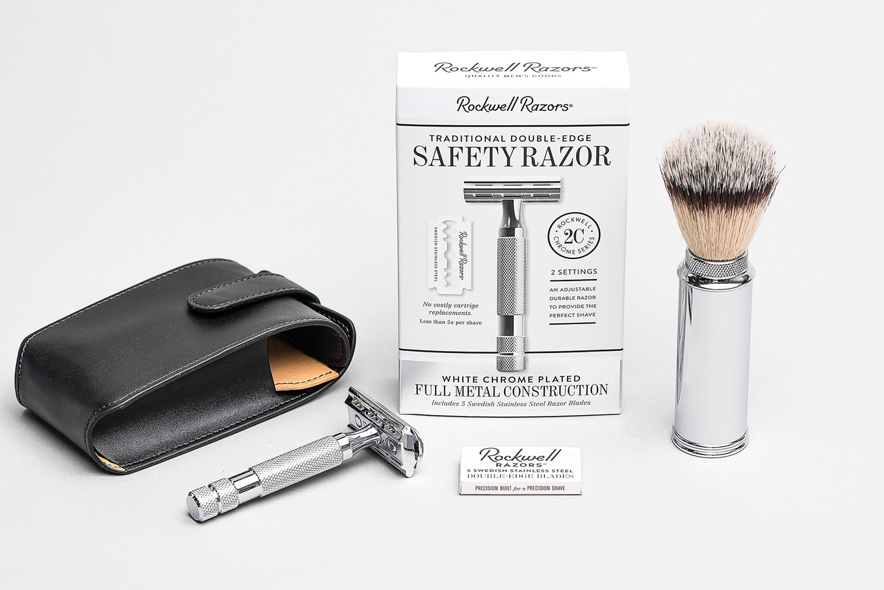 Three-Piece Shave Set | Rockwell Razors