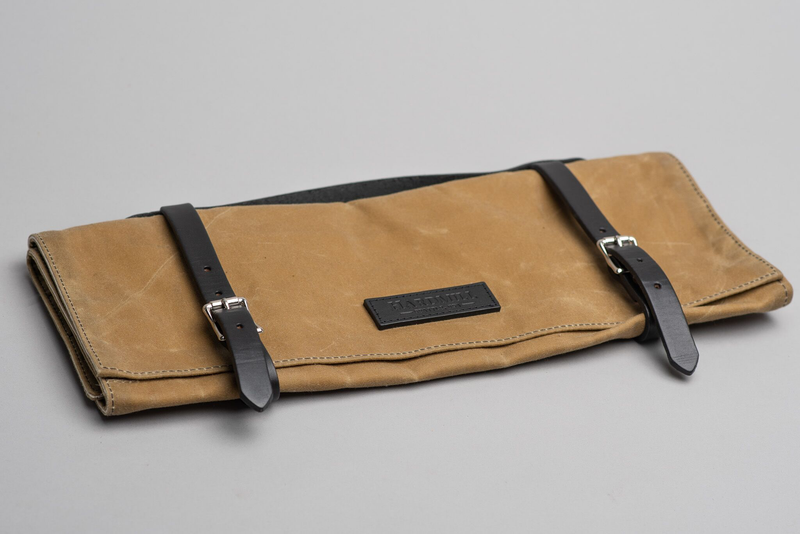 Knife Roll | Field Tan Waxed Canvas | Hardmill