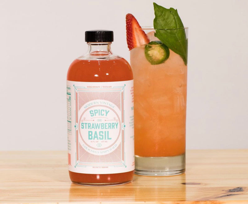 Spicy Strawberry Basil | Modern Vintage Cocktail