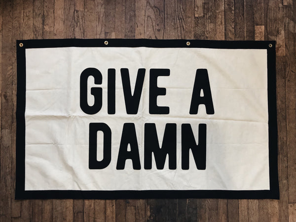 """Give a Damn"" Banner 
