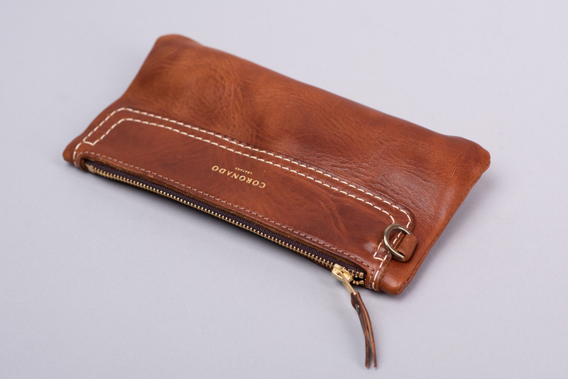 Americana Utility Pouch #293 | Chestnut | Coronado Leather - Manready Mercantile