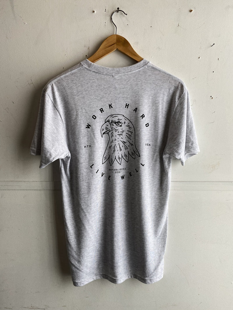 Graphic Tee | MM Eagle | Heather Grey | Manready Mercantile