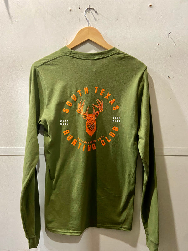 Graphic Tee | LS South Texas Hunting Club | Hunter Green | Royal Apparel x Manready Mercantile