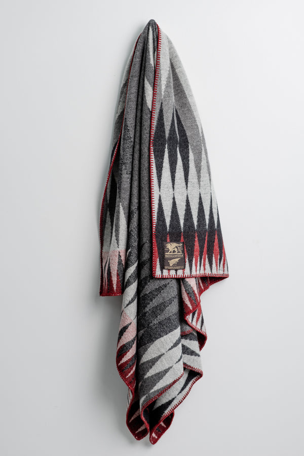 Indigofera Red Wing Wool Blanket available at Manready Mercantile and manready.com