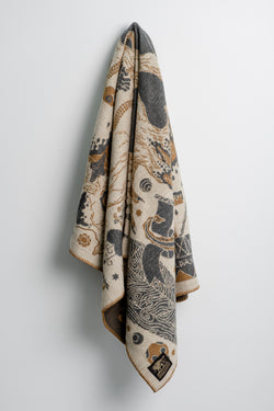 Indigofera Psyche of Samedi Wool Blanket available at Manready Mercantile and manready.com