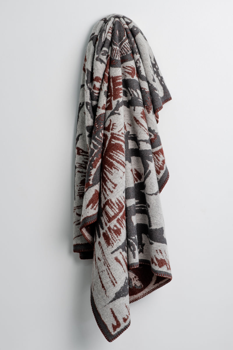 Indigofera Eye of the Tiger Wool Blanket available at Manready Mercantile and manready.com