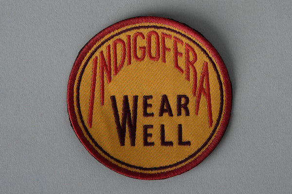 Patch | Round Wear Well Logo Badge | Indigofera