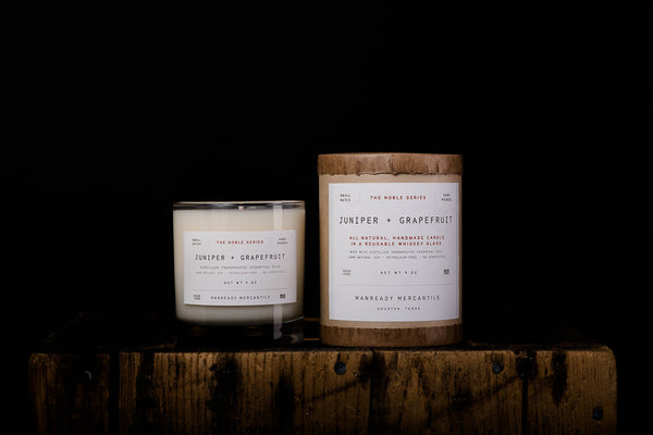 Manready Mercantile Juniper Grapefruit Soy Wax Candle Noble Series Made in Houston