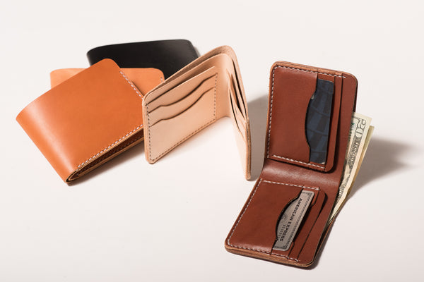 Manready Mercantile Leather Bi Fold Wallet available at manready.com