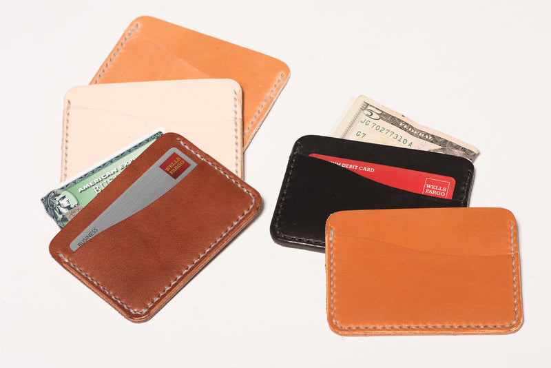 Leather Two Pocket Card Wallet | Manready Mercantile