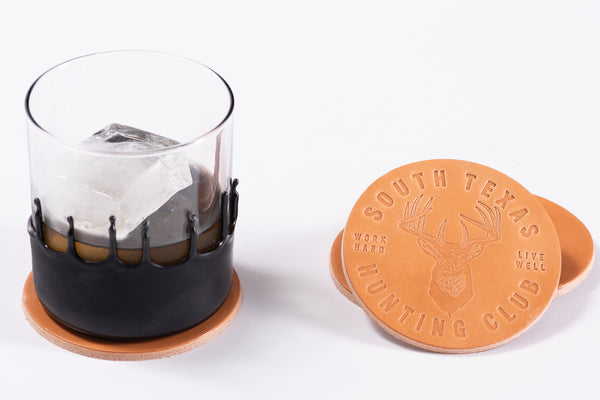 Leather Coaster | South Texas Hunting Club | Manready Mercantile - Manready Mercantile