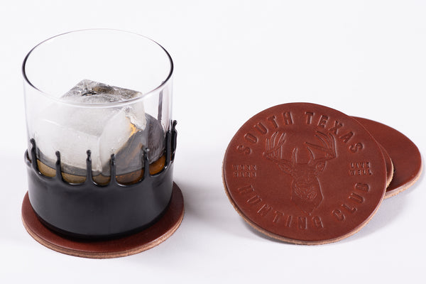 Leather Coasters | South Texas Hunting Club | Manready Mercantile