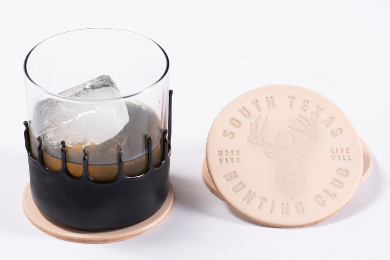 Leather Coasters | South Texas Hunting Club