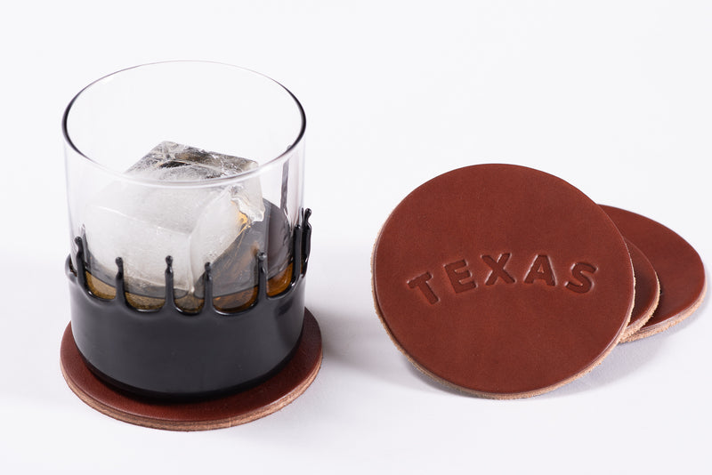 Leather Coaster | Texas | Manready Mercantile - Manready Mercantile