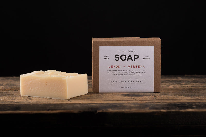 Manready Mercantile Lemon and Verbena Goat Soap available at Manready Mercantile and online at manready.com